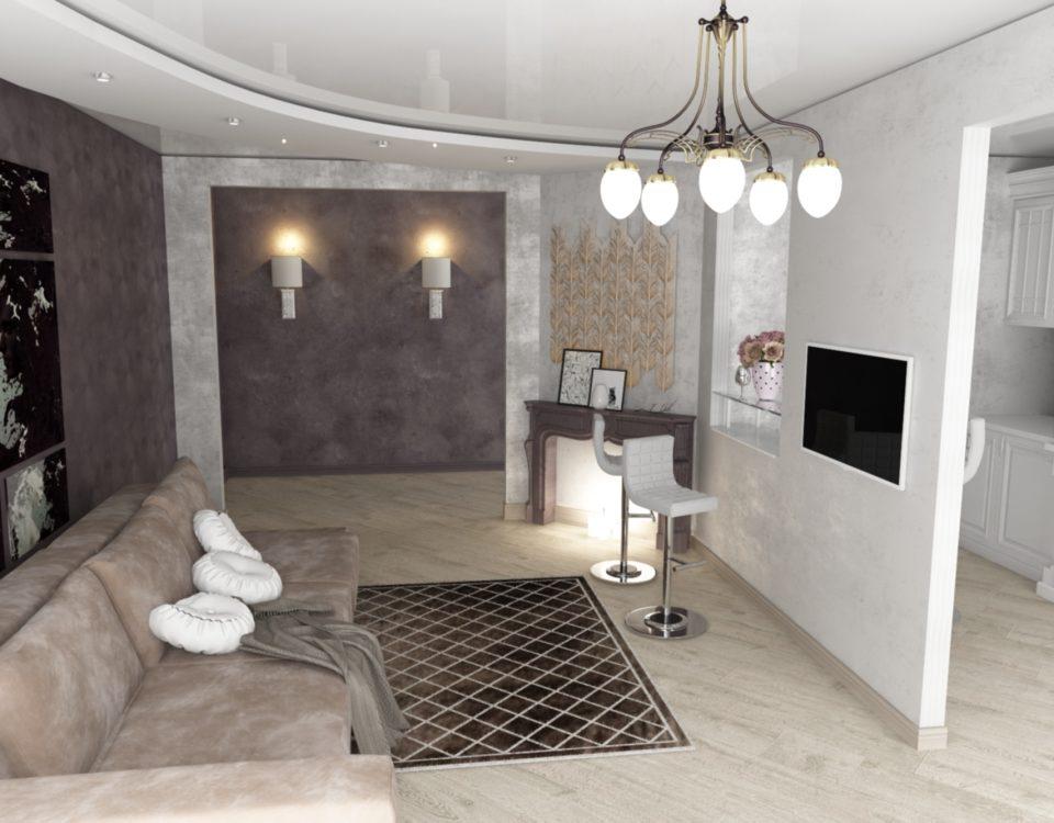 Дизайн квартиры с эркером