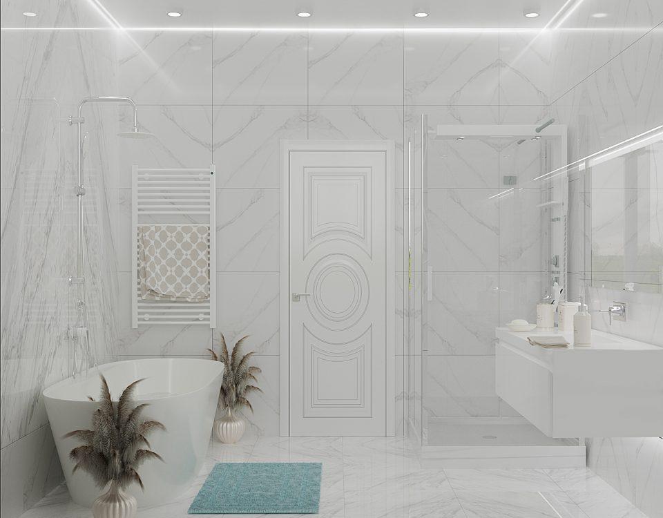 Мраморная ванная комната.
