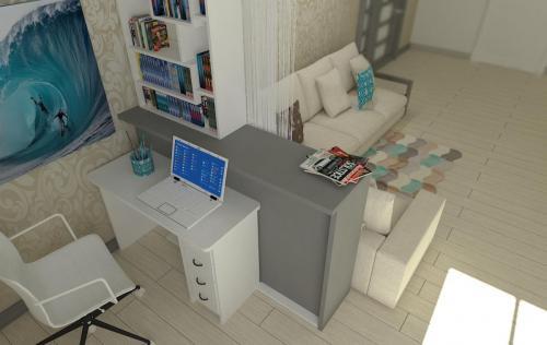 Гостиная в типовой квартире