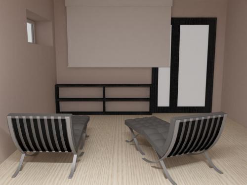 Двухуровневая квартира с кинотеатром