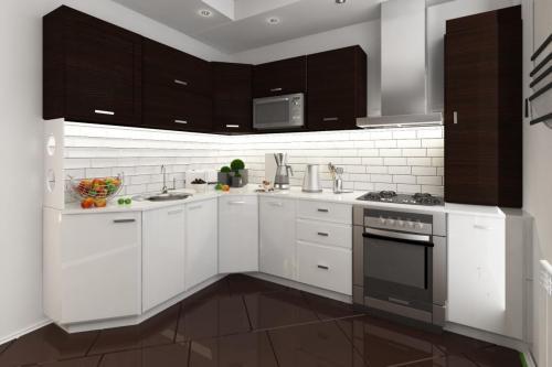 Кухня для семьи из четырех человек