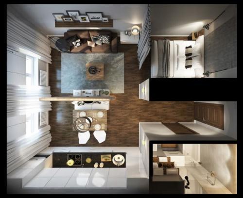 План расстановки мебели в небольшой квартире