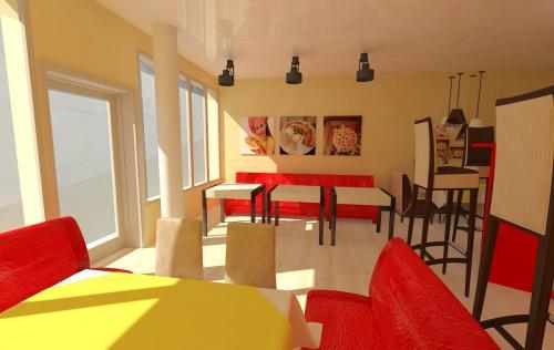 Дизайн одного из кафе сети Рустерс