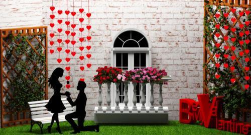 Фотозона на день Святого Валентина