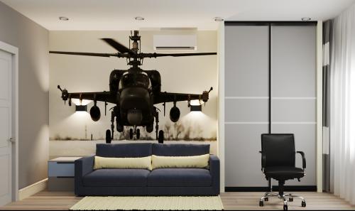 Комната с вертолётом