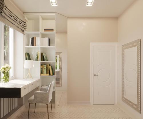 Уютный минималистичный кабинет.